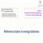 Reference states in energy balances
