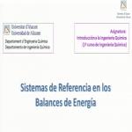 Sistemas de referencia en los balances de energía