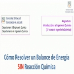Cómo resolver un balance de energía sin reacción química