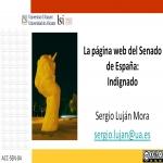 La página web del Senado de España: Indignado