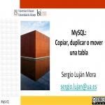 MySQL: Copiar, duplicar o mover una tabla