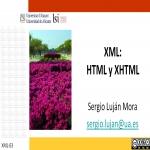 XML: HTML y XHTML