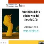Accesibilidad de la página web del Senado (2/2)