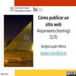 Cómo publicar un sitio web: alojamiento (hosting) (1/3)