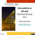Cómo publicar un sitio web: alojamiento (hosting) (2/3)
