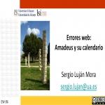 Errores web: Amadeus y  su calendario