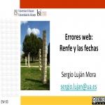 Errores web: Renfe y las fechas