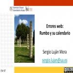 Errores web: Rumbo y su calendario