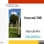 Errores web: Tame